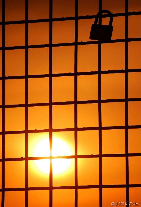 Sonnenuntergang am Schloß